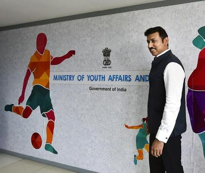Rathore meets IOC chief Bach, promises clean sports in India