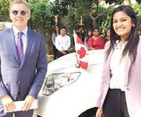 Indian girl, Canada's envoy for a day, keeps staff on their toes