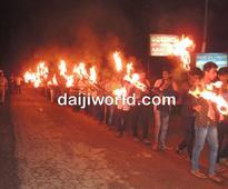 HJV organizes Akhand Bharat Sankalp Diwas, torch procession