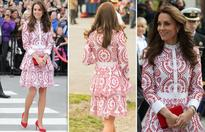 Kate oozes elegance in red and white on Canada tour