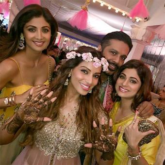 PIX: Bipasha-Karan's wedding celebrations begin