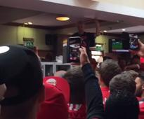 Manchester United fans have packed pub rocking as they kick derby day off in style
