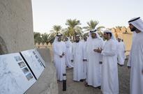 Mohamed Bin Zayed tours Hili Oasis sites