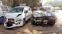Luxury cars' mishap spree still on, BMW injures four persons