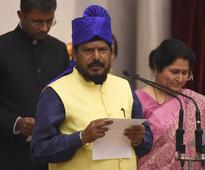 Oops! RPI leader Ramdas Athawale forgets his name while taking oath