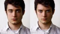 This gif of Elijah Wood morphing into Daniel Radcliffe is sort of spooky