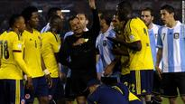 Football: Argentina and Colombia battle