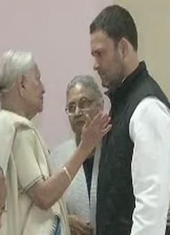 Rahul gets a hug