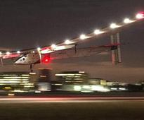 Solar plane completes Pacific crossing