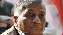 V K Singh come under attack for targeting media