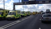 Ambulances on the scene at M62 crash