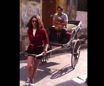 Watch: Parineeti Chopra turns a rickshaw puller for Ayushmann Khurrana