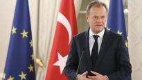 EU chair Donald Tusk labels Donald Trump a 'threat' as Europeans debate US ties