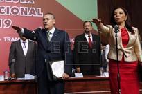 MÉXICO PARTIDOS - La secretaria general Carolina Monroy sucede a Beltrones en presidencia del PRI