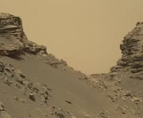 Mars Rover Views Spectacular Layered Rock Formations