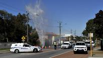Water main erupts on Flinders Street
