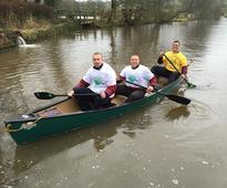 Staffs trio plan to make fund-raising splash with canoe challenge