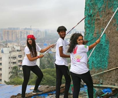 In photos: How young Indians are bringing colour to Mumbai's slums