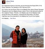 Bhutan's royal couple announce birth of prince