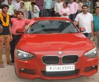 JEE 11th rank holder gifted BMW sedan by Rajasthan coaching institute