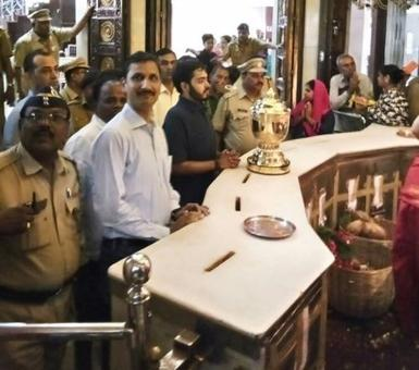 Bless you! IPL cup taken to Siddhivinayak after Mumbai Indians' win title