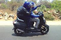 Spotted: TVS' new scooter out on a test ride in Chennai