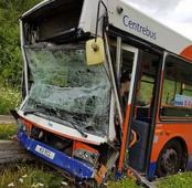 Seventeen people hurt as two buses collide in Luton