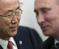 U.N. chief meets with Putin as Russian warships assemble off Syria