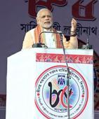 Gandhi Family Obstructing Parliament Says Modi, Urging Assam to Vote BJP