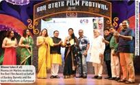 Winning gold at the Goa State Film Festival