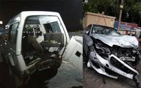 Mercedes rams PCR van on DND flyway, driver arrested