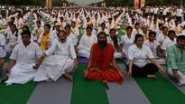 Baba Ramdev holds massive yoga camp at Rajpath, Venkaiah Naidu, Meenakshi Lekhi and others attend