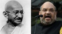 Amit Shah calls Mahatma Gandhi a 'chatur baniya'; Congress demands apology
