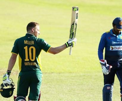 Ton-up Du Plessis, Miller help South Africa thump Sri Lanka