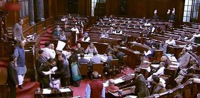 RS disrupted over PM's remark against Renuka Chowdhury