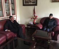 Chinese officials, Indian Ambassador call on Dahal