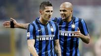 Felipe Melo sent off for horror karate kick tackle as Inter Milan lose at home to Lazio