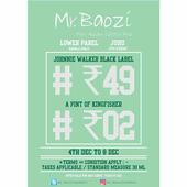 Drink beer for Rs 2 and Johnnie Walker Black Label Whisky for Rs 49 at this Mumbai bar