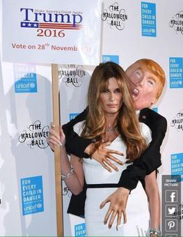 'Trump' gropes Jemima and the world is talking about it