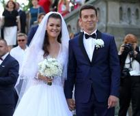 Beautiful wedding photos of famous sports stars