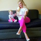 Coco Austin and mini-me daughter Chanel look super cute as they pose in matching outfits