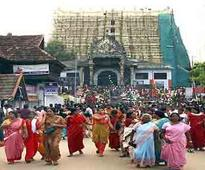 Protests over allowing women to wear churidar at Padmanabhaswamy temple