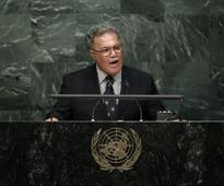Tuvalu PM urges new legal framework for climate migrants