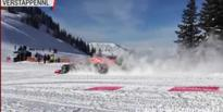 Red Bull hits the slopes in a modified F1 car for the ultimate winter driving experience