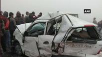 Reduced visibility on Lucknow-Agra Expressway causes vehicular collison; many injured