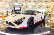 DC Avanti in new Red & White livery at Mumbai's only DC Design store