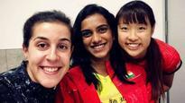 Super Selfie: PV Sindhu poses with Nozomi Okuhara, Carolina Marin before Japan Open Superseries
