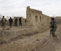 Afghan forces are facing a fierce battle to fend off the Taliban in three Helmand districts