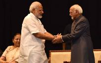 How PM Modi gave a left-handed compliment to outgoing VP Hamid Ansari