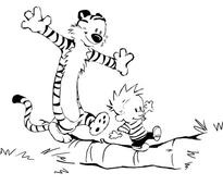 Free printable Calvin and Hobbes coloring pages, comics and cartoons